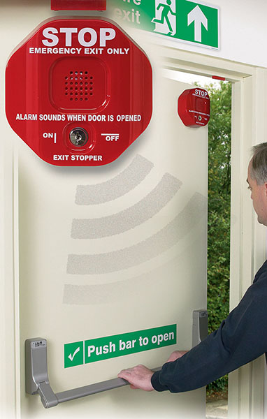 Fire door alarm