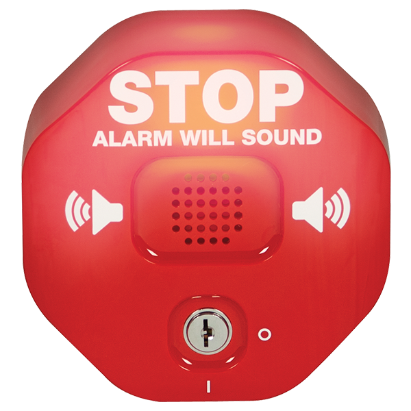 The new model with light up features STI-6400 exit stopper door alarm