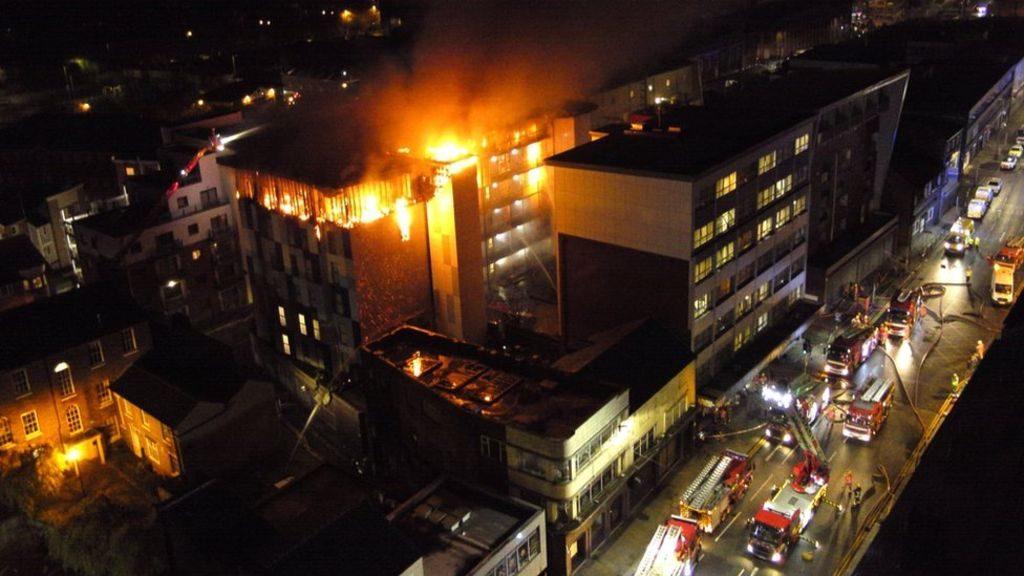 Bolton University Cube Fire False Alarm